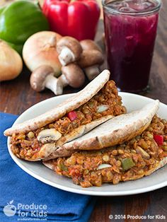 A hearty, meatless dinner that your whole family will love. A quick, easy and healthy twist on classic Sloppy Joes. Recipe created by Christine Pittman in partnership with Produce for Kids.