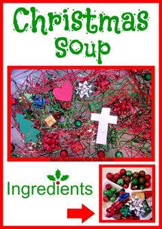 Bath Activities for Kids: Christmas Soup Sensory Activity