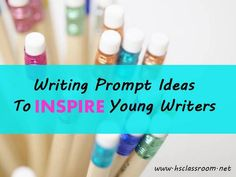 These Writing Prompts Ideas to Inspire Young Writers can be useful for practicing handwriting skills as well:) from The Homeschool Classroom 5th Grade Writing, Writing Classes, Writing Lessons, Teaching Writing, Writing Activities, Writing Prompts, Writing Ideas, Spanish Teaching Resources, Teaching Language Arts