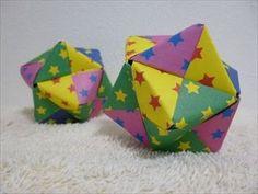 【ハンドメイド】ユニット折り紙「12枚で作る24面体のくす玉」折り方・作り方 How to make a 24-tetrahedral unit origami - YouTube