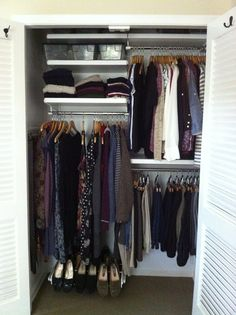 Like a gorgeous kitchen island, a walk-in closet was a home feature I always dreamed about. It was really more than just a place to stow clothes. Instead, it represented a certain sense of achievement. Elfa Closet, Closet Shelves, Closet Racks, Ikea Closet Organizer, Closet Organization, Organization Ideas, Best Closet Systems, Basement Closet, Beautiful Houses Interior