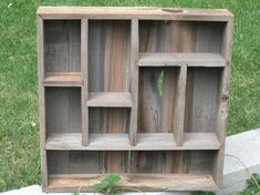 Rustic Barnwood Shadow Box Item 205 by PlaidWoodDesign on Etsy