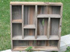 barn wood shadow box.