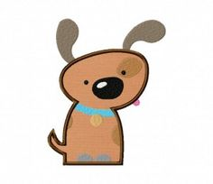 """Puppy Applique & stitched versions, 1"""" and up many sizes! .25"""