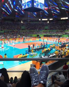 GO Sérvia!!!!  Final de vôlei feminino XAmando muito assistir meus esportes favoritos ao vivo!  #olympics #olimpiadas2016 #rio2016 #volleyball