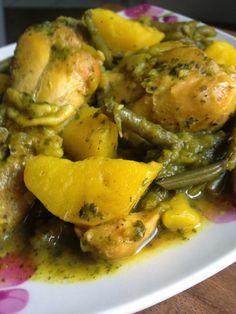 tajine poulet pomme de terre haricots verts