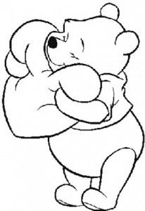 Cutest Winnie The Pooh Coloring Page | trang trí | Pinterest | Craft ...