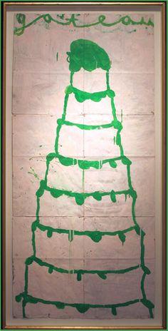 Gary Komarin's Cake Paintings