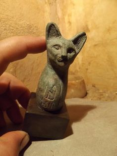 Egyptian cat statue of Bast / Bastet - A Goddess of music , dance , joy, hunting | eBay