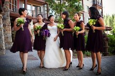 Devrin & Ryan's Lime Green and Purple Wedding