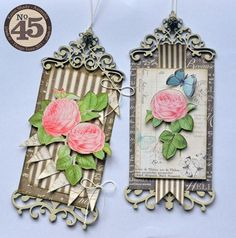 Beautiful Botanical Tea tags from Karen Shady #graphic45 #tags