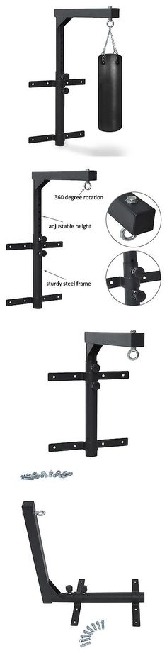 Bag Stands Platforms and Accs 179785: Adjustable Wall Mount Heavy Bag Hanger Boxing Punching Steel Bracket Sport Black -> BUY IT NOW ONLY: $32.99 on eBay!
