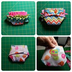 This pattern makes a cute little dolly diaper that fits most babies from Bitty Baby to Cabbage Patch Kids. It is easy to sew as there is no elastic. This pattern is a GREAT scrap pile buster. The d...