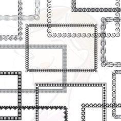 Digital Frame Borders Clipart clip art Rectangle Frame Digital Download COMMERCIAL Personal Use Scrapbook Frames Teachers Crafters 10123. $4.90, via Etsy.