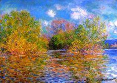 Au bord de l'eau - Claude Monet
