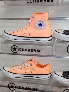 Coral coloured Converse!....gorgeous.