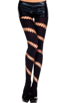 Music Legs Spandex Pantyhose with Diagonal Oval Striped Design Pantyhose Tights | eBay