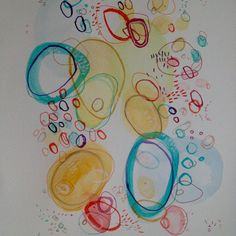 Puddle drops I by MarshMade on Etsy