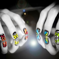 Gemini nail wraps. Part of The Zodiac Collection from SCRATCH.