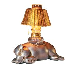 Morton's Steak House Classic Pewter Pig Table Oil Lamp Tea Light Vintage   eBay