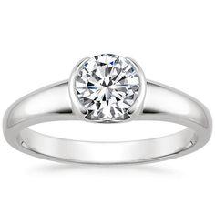18K White Gold Petite Semi-Bezel Ring from Brilliant Earth