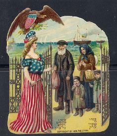 Old Litho Jewish Die Cut Prize America 1909