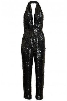Black Sequined Jumpsuit | PinkClouds | Vintage Fashion