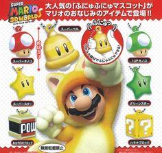 Super Mario 3D Land Mascot Keychain Figure Chibi SMALL MARIO Key Chain Tomy