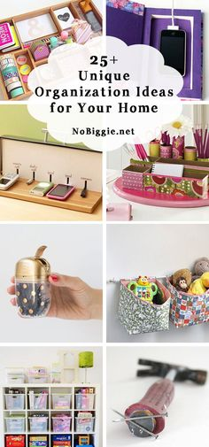 25+ Unique Organization Ideas for the home that can be done using the things you have in your Home. Take a look!