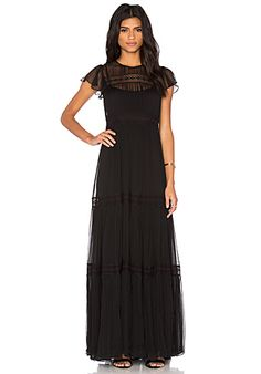 Shop for Needle   Thread Chiffon Lace Gown in Black at REVOLVE. d4bed81afb63