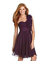 bridesmaid dress maybe without as big of ruffles