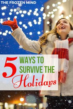 Finding ways to survive the holidays by managing stress is important to being able to enjoy them. Here are 5 Ways to Survive the Holidays. Mental Health Blogs, Mental Health Support, Health Advice, Health And Wellness, Health Resources, Chronic Fatigue, Chronic Illness, Chronic Pain, Fibromyalgia
