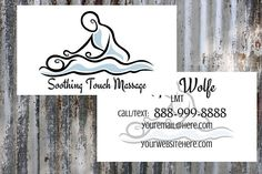 Soothing Touch Massage Business Card   LMT   Massage Therapist