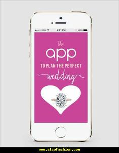 The App To Plan The Perfect Wedding - http://www.alsofashion.com/the-app-to-plan-the-perfect-wedding.html