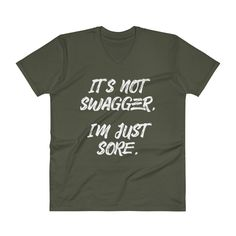 Men's V-Neck T-Shirt - Swagger-Sore - Whiteout