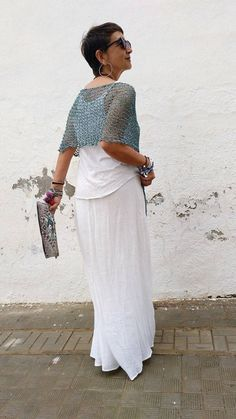 Chal de algodón top de mujer de verano chal para boda | Etsy Poncho Sweater, Cotton Sweater, Summer Cover Up, Ribbon Yarn, Wide Pants, The Chic, Lace Skirt, Summer Dresses, Wedding Dresses