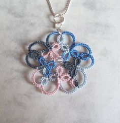 Tatted Flower Pendant  Isabella  One Of A Kind by TataniaRosa, $23.00