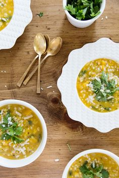 butternut squash soup + spinach + barley / jessica comingore.