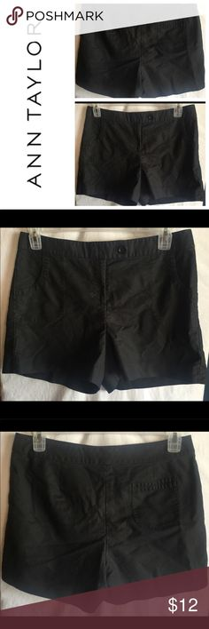 """Ann Taylor Womens Black Shorts Size 10 Womens Ann Taylor Black Bermuda Shorts Size 10  Style # 119929  Measurements- Waist: 34"""" Rise: 11"""" Inseam: 4""""    Customer service is my #1 priority! I strive to not only meet, but to exceed the standard. If for any reason you are unhappy with your order, I will make it right!    Thank you for supporting small business! Ann Taylor Shorts"""
