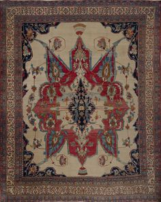 Matt Camron Rugs & Tapestries Antique Persian Kerman Lavar Rug