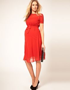 Enlarge ASOS Maternity Exclusive Midi Dress With Belt
