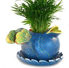 Blue Fish Planter. $80.00, via Etsy.