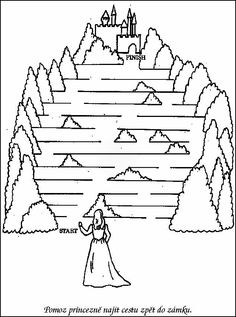 Printable Mazes for Kids. - Best Coloring Pages For Kids Maze Games For Kids, Online Games For Kids, Puzzles For Kids, Kids Mazes, Free Kindergarten Worksheets, Worksheets For Kids, Color Activities, Preschool Activities, Hard Mazes