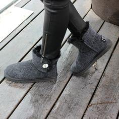 Kuschelige #boots von #ugg in der Trendfarbe #metallic