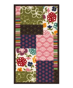 Take a look at this Flowers & Stripes Patchwork Rug by Oriental Weavers on #zulily today! Love this idea. Looks like a quilt pattern.