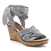 Cute summer shoes.  Love the blue white stripes