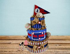 Baseball Shower Decorations Baseball Diaper by HeyBabyCakeBoutique