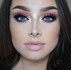Gorgeous Makeup: Tips and Tricks With Eye Makeup and Eyeshadow – Makeup Design Ideas Rose Gold Makeup Looks, Pink Makeup, Blue Eye Makeup, Smokey Eye Makeup, Gorgeous Makeup, Love Makeup, Makeup Inspo, Makeup Inspiration, Beauty Makeup