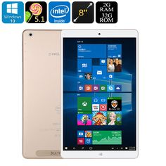 Teclast X80 Power Dual-OS Tablet PC - Windows 10, Android 5.1, Quad-Core CPU, Google Play, HDMI Out, 2GB RAM, 8-Inch FHD Display - The Teclast X80 Power is a Dual-OS tablet PC with a beautiful 8-inch display that lets you enjoy the best from both Android and Windows operating systems.