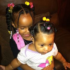 15 Of The Cutest Afro Hairstyles For Your Little Girl – Black Baby Hairstyles Pictures Black Baby Girl Hairstyles, Natural Hairstyles For Kids, Kids Braided Hairstyles, Flower Girl Hairstyles, Natural Hair Styles, Toddler Hairstyles, Mixed Baby Hairstyles, Afro Hairstyles, Little Girl Braids